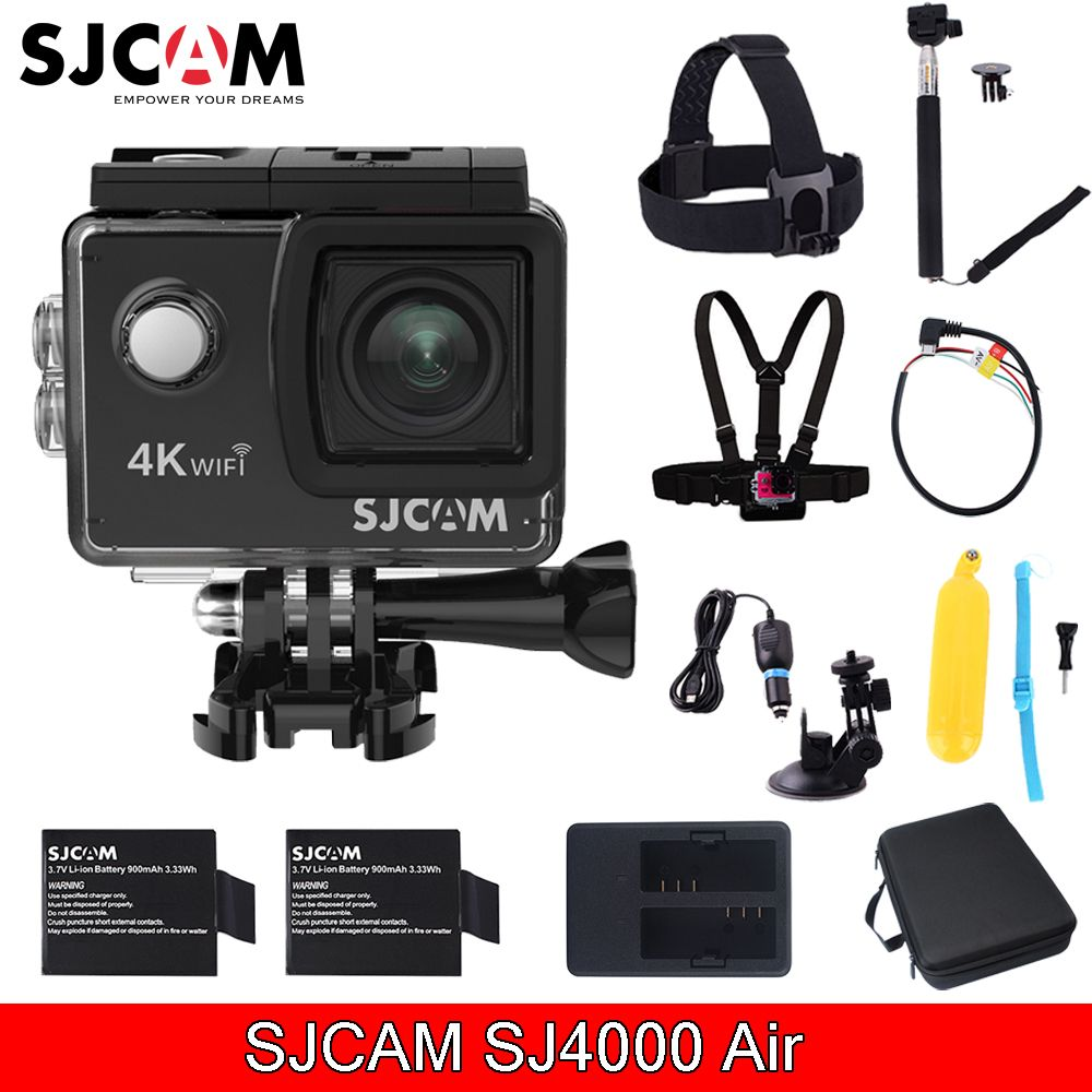 New Sjcam Sj4000 Air 2.0'' Screen Wifi 4k 30 fps 16MP 30M Waterproof diving Sports Action Mini Camera With Various Accessories