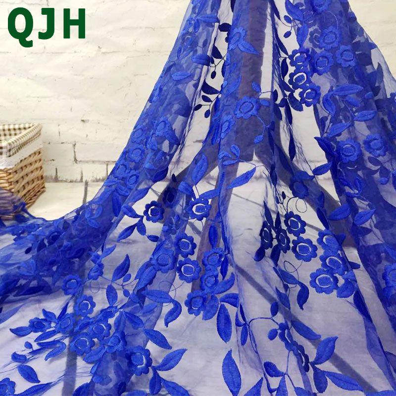 Marque Organza soluble dans l'eau dentelle broderie maille Voile français lait soie dentelle tissu pour robe de mariée accessoires de vêtement rouge