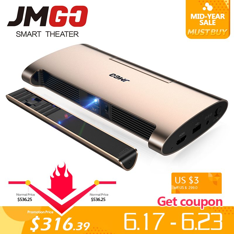 JMGO Smart Projektor M6. Android 7.0, Unterstützung 4 k, 1080 P Video. Set in WIFI, Bluetooth, Laser Stift, MINI Projektor