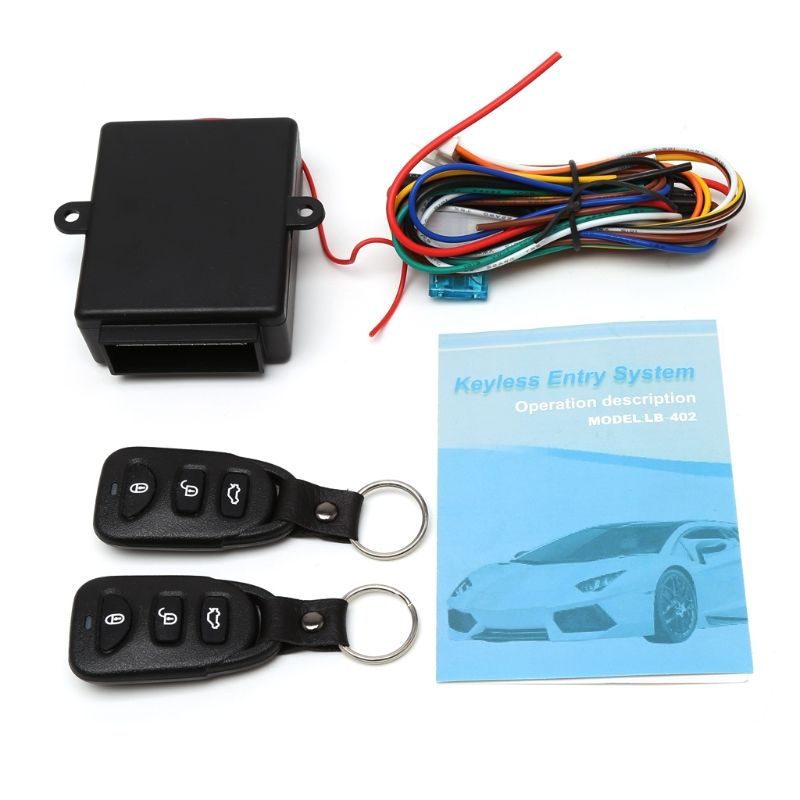 Universal Car Auto Remote Central Kit Door Lock Locking Vehicle Keyless Entry System With Remote Controllers Car Clarm System