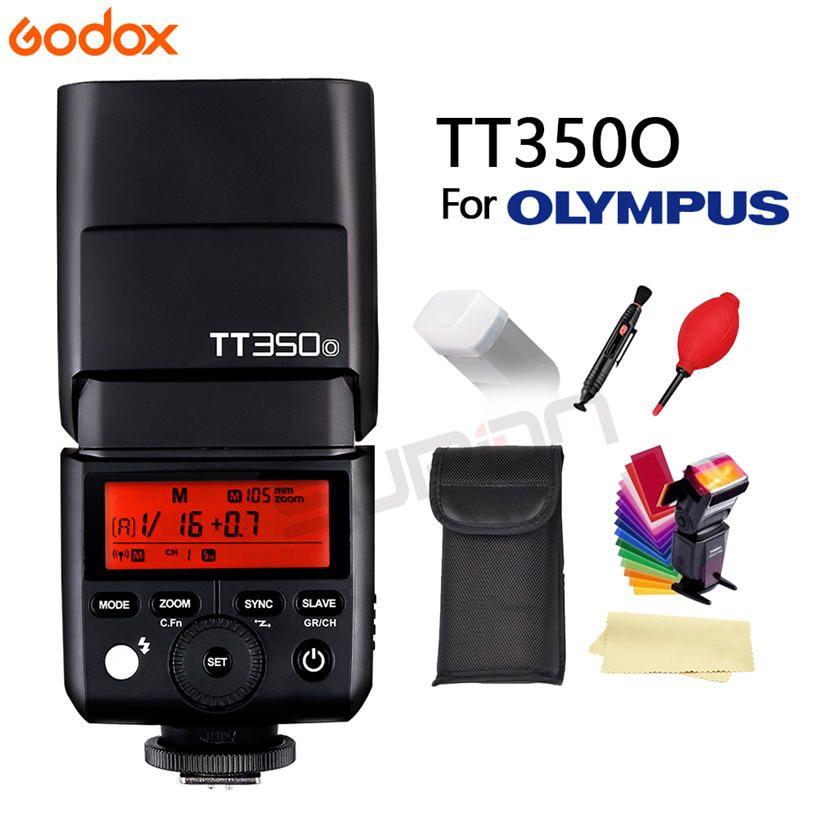 GODOX Flash TT350 Mini Flash Light 2.4G Wireless HSS TLL 1/8000s Master Speedlite Flash For Olympus Panasonic Lumix Camera+gift