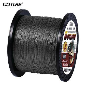Goture PE плетеный плетеная рыболовная леска 500 м 4 нити шнур Карп рыболовные линии для пресной воды и морской 8-80 фунтов