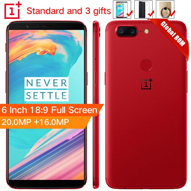 Stock Oneplus 5T 5 T 6GB 64GB Snapdragon 835 Octa Core Smartphone 6.0120.0MP 16.0MP Dual Camera LTE 4G Android 7.1