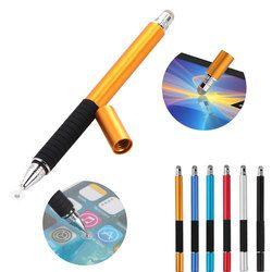 2 en 1 multifunción fina punta fina redonda pluma capacitiva Lápices para pantalla táctil para el teléfono elegante Tablets para IPad para iPhone