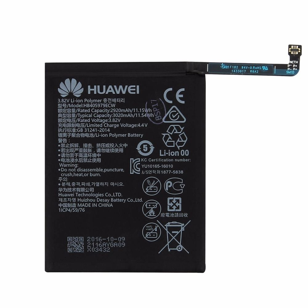 Original Huawei phone Battery for Huawei NOVA CAZ-AL10 CAZ-TL00 Enjoy 6S 2920mAh HB405979ECW