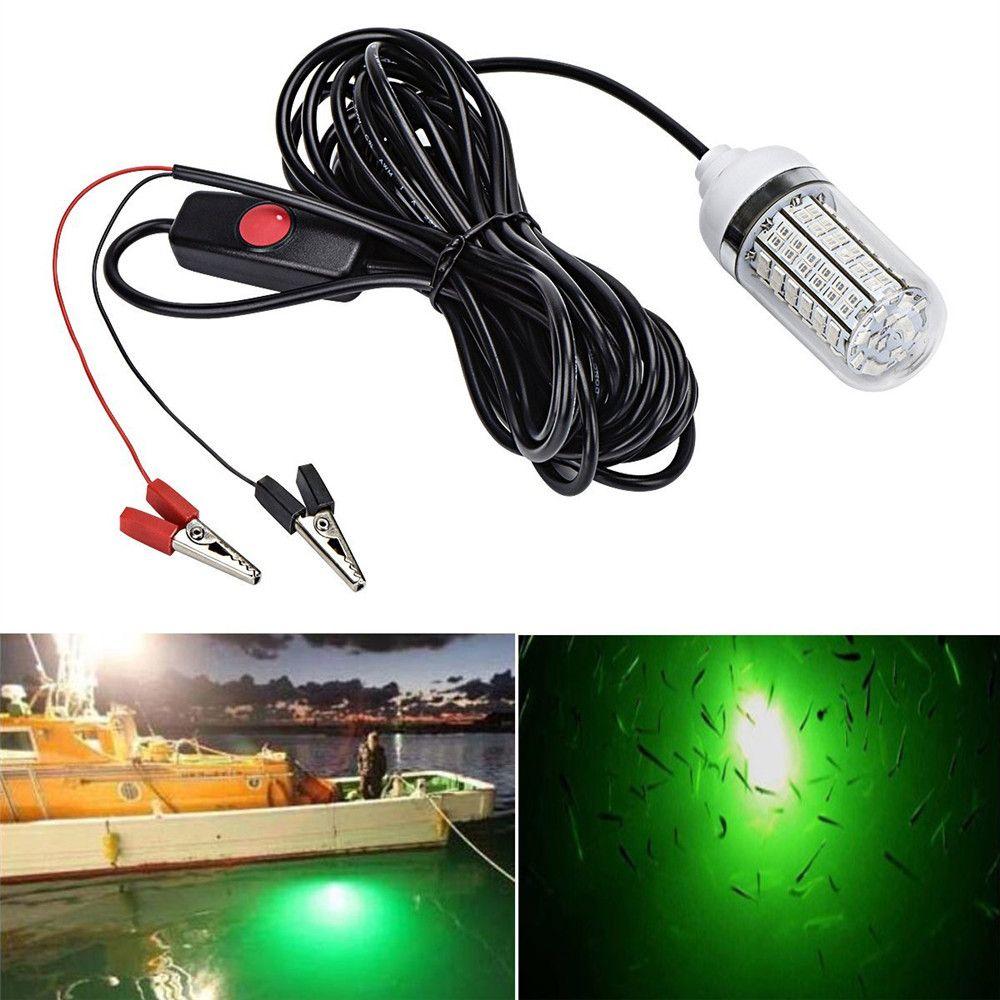 12V lumière de pêche 108 pièces 2835 LED lumière de pêche sous-marine leurres lampe de détecteur de poisson attire crevettes calmar Krill (4 couleurs)