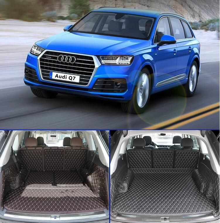 Full Rear Trunk Tray Liner Cargo Mat Floor Protector foot pad mats for 16 17 AUDI Q7 2016 2017 2018 5/7seats (6colors)