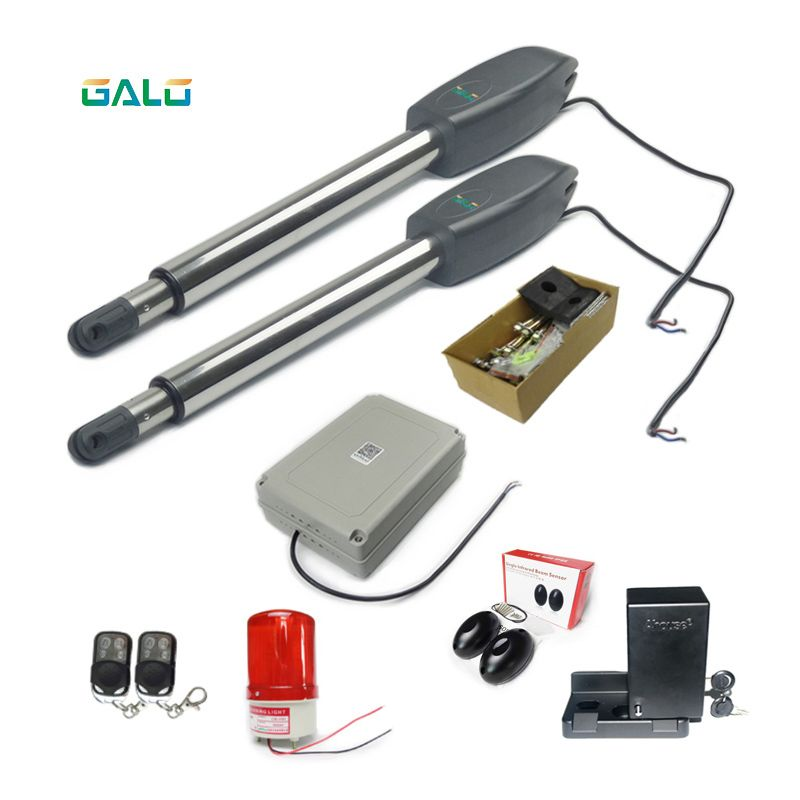 Wireless remote control Heavy Duty Automatic Double Swing Driveway Gate Openers & Closers