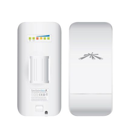 UBNTi NanoStation loco M2 2.4GHz Wireless Network Bridge airMax 8dBi CPE Within 1 KM (Only one!!! Must be used with two! )