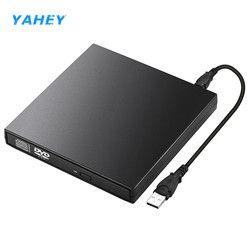 USB DVD Lecteur Optique Externe Lecteurs DVD ROM Lecteur CD-RW Graveur Enregistreur Portatil pour Ordinateur Portable Ordinateur pc Windows 7/8