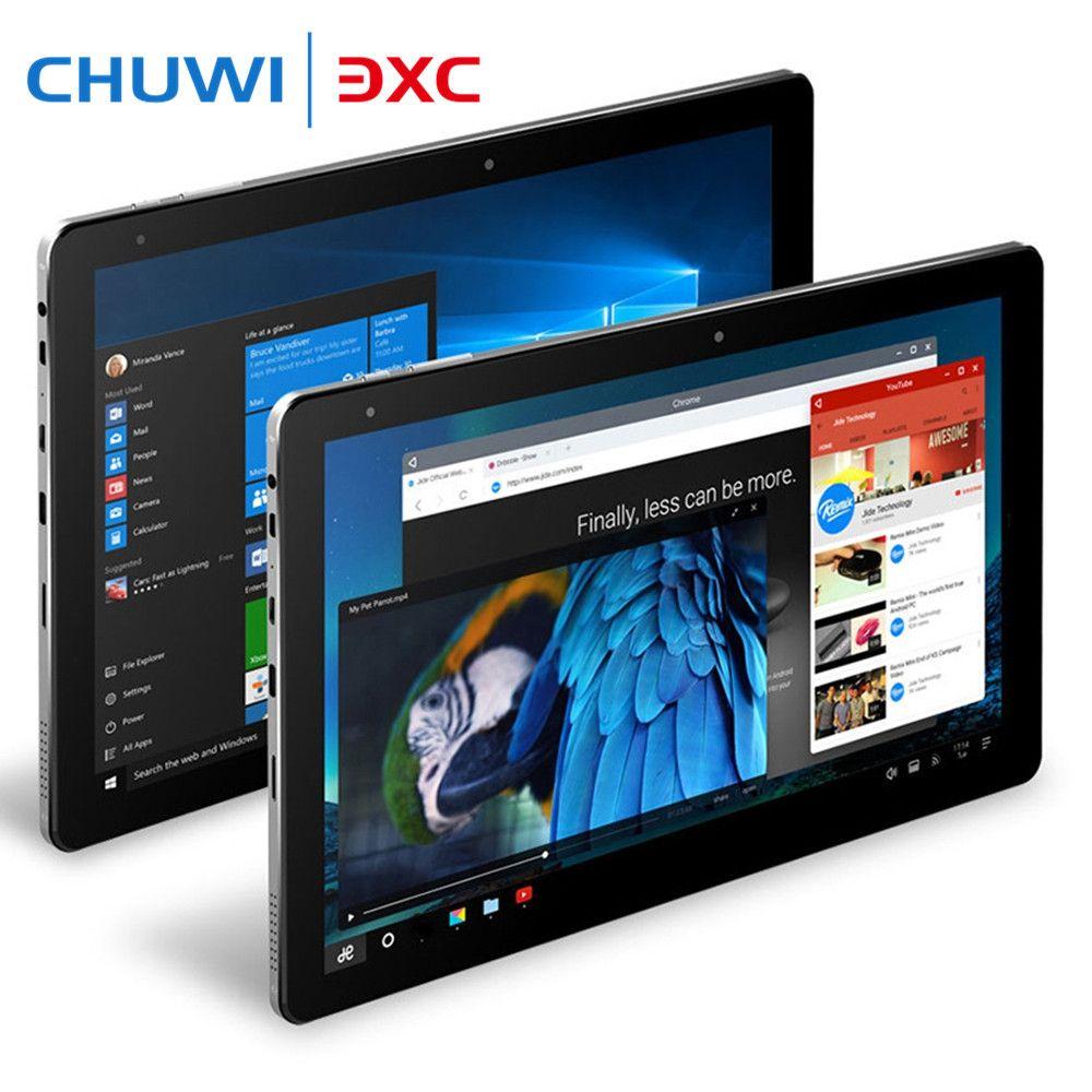 Chuwi Hi10 Pro 10.1 pouces Tablet PC Intel Cerise Sentier x5-Z8350 4G 64G Windows 10 et Android 5.1 1920x1200 IPS Double caméras Type-C