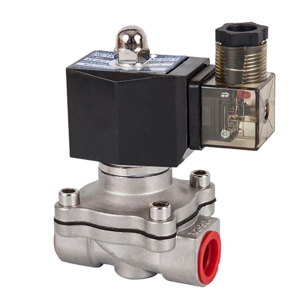 DN15 to 50,Normally closed solenoid valve, 304 stainless steel water oil valves,Moisture proof,AC 110V 220V 380V 24V,DC 12V 24V