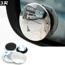 1 par 360 grados sin marco ultrafino gran angular redondo convexo ciego espejo para el estacionamiento espejo retrovisor alta calidad