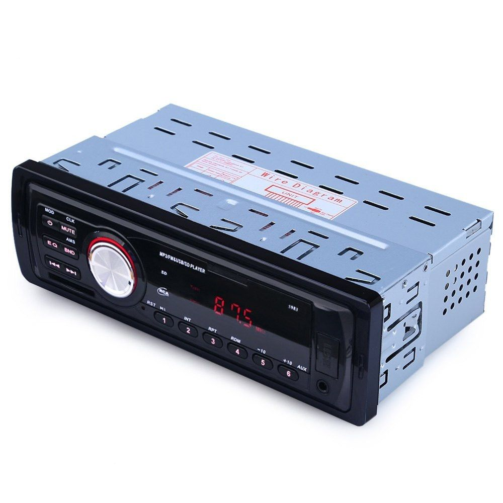 12V Car Radio Audio Player Stereo MP3 FM Transmitter Support FM USB / SD / MMC Card Reader 1 DIN  In Dash Car Electronics