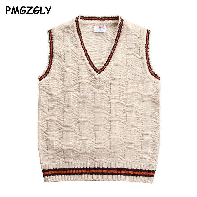 Enfants gilets chandails 3 à 10 ans laine gilet enfants top qualité sans manches chandails enfants garçons pull à tricoter gilet manteau