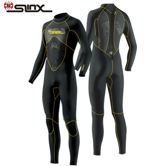SLINX 1101 3mm Scuba Diving Wetsuit Triathlon Nylon Wet Suit Swimming Snokel Diving Suit Spearfishing Full Bodysuit For Men