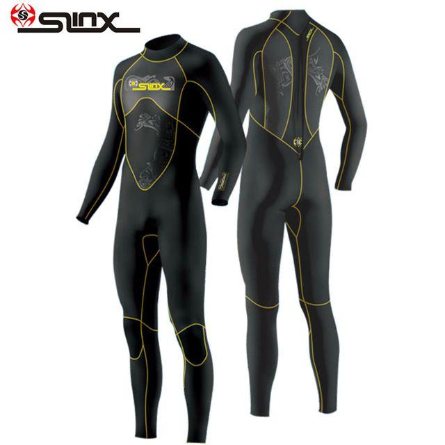 SLINX 1101 3mm Scuba Diving Wetsuit Triathlon Nylon Wet Suit Swimming Snokel Diving Suit Spearfishing Full Bodysuit For Men