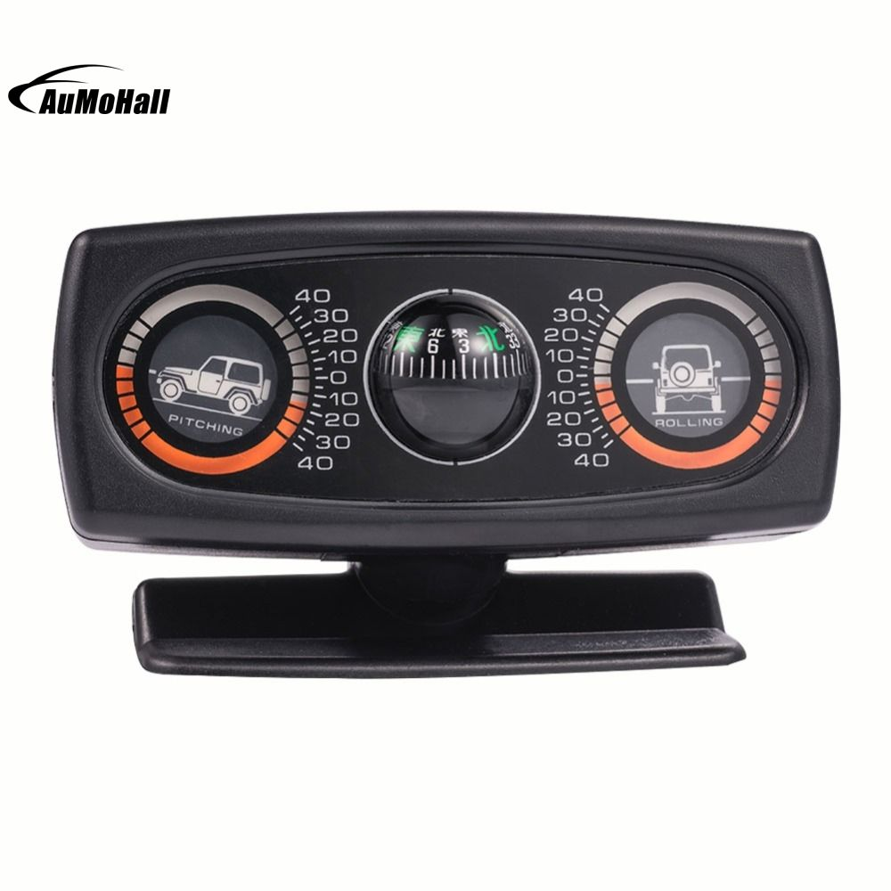 New Vehicle Compass Multifunction Car Inclinometer Slope Measure Inclination Tool