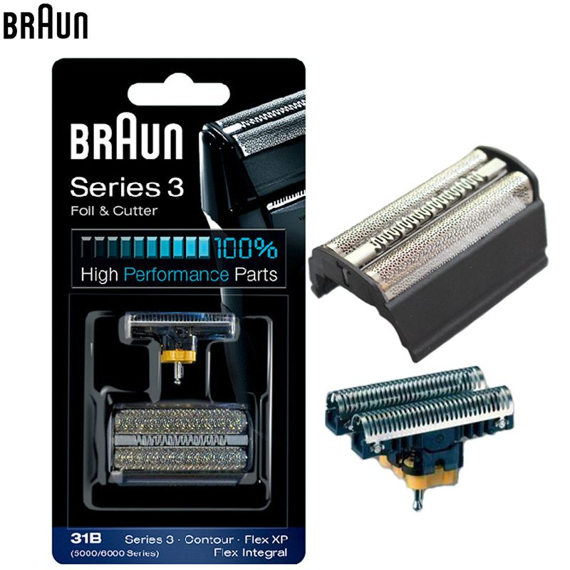 Braun 31B (5000/6000series) Foil & Cutter high performance parts for Series 3 Shavers (5610 5612 old 350 360 370 380 390CC)