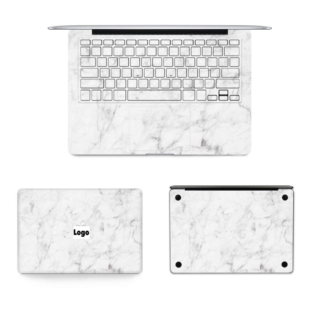 GOOYIYO-nouveau 4 en 1 Set autocollant complet pour ordinateur portable en marbre peau vinyle autocollant pour Macbook Air Pro Retina 11 12 13 15 autocollant et Film cadeau