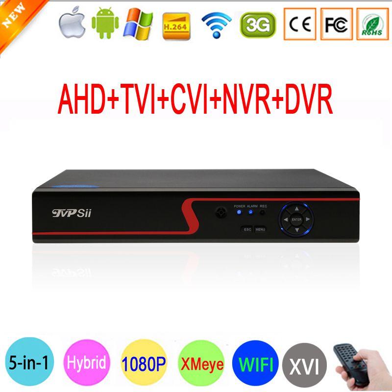 1080 P Камеры Скрытого видеонаблюдения hi3521a xmeye 16 канала 6 в 1 коаксиальный Гибридный Wi-Fi Onvif XVI CVI NVR TVI AHD CCTV видеорегистратор Бесплатная доставка