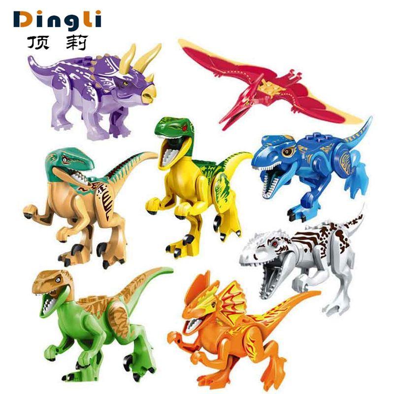 Monde jurassique Dinosaures Modèle Kits de Construction Chiffres Legoings Marvel Coloré figurines de dinosaures blocs jouets Pour Enfants Cadeaux