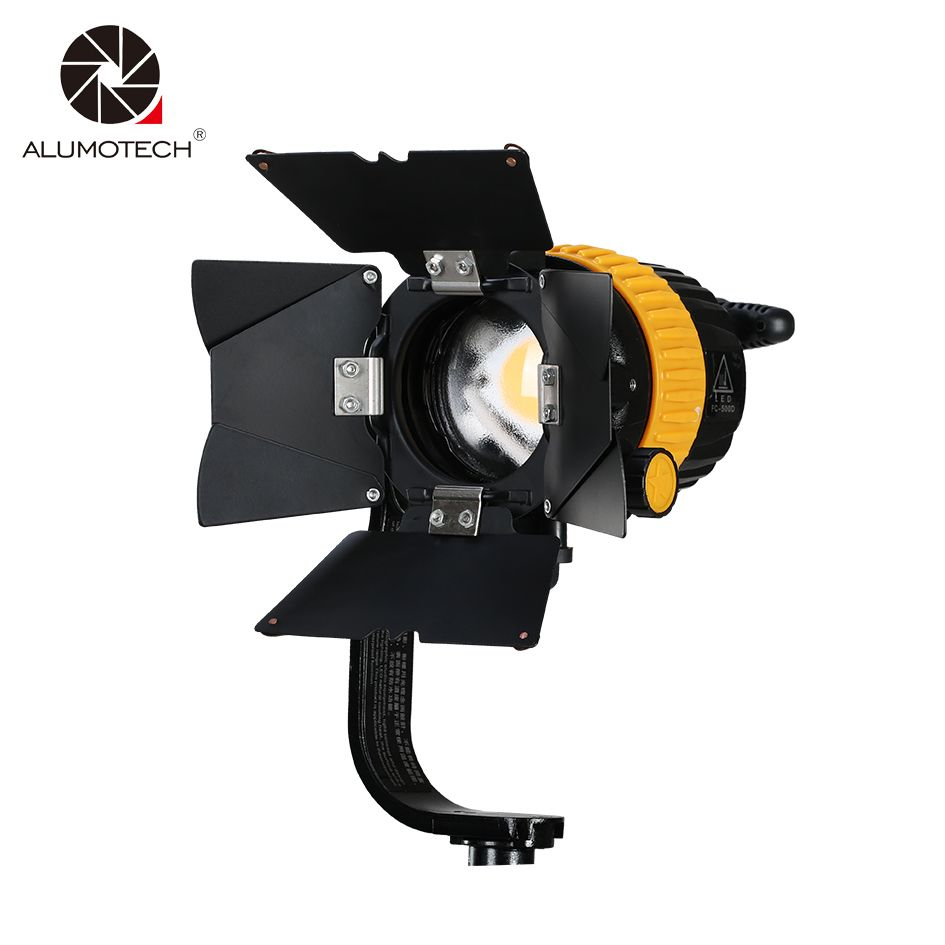 ALUMOTECH 50W LED High CRI 5500/3200K Portable Spotlight For Camera Video Continuous Light