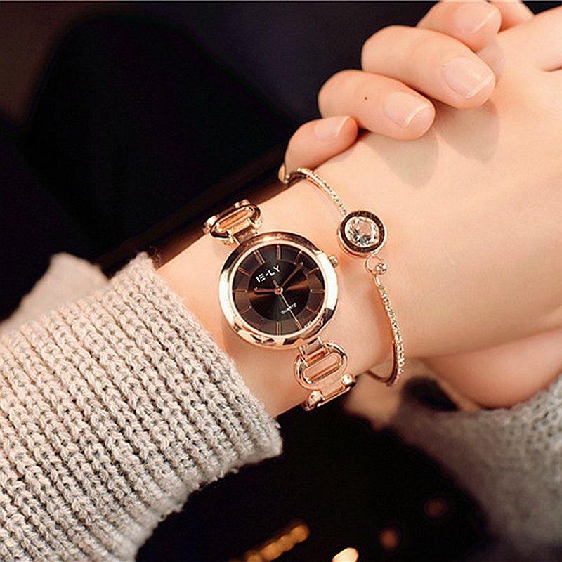 New Fashion Rhinestone Watches Women Luxury Brand Stainless Steel Bracelet watches Ladies Quartz Dress Watches reloj mujer 2017