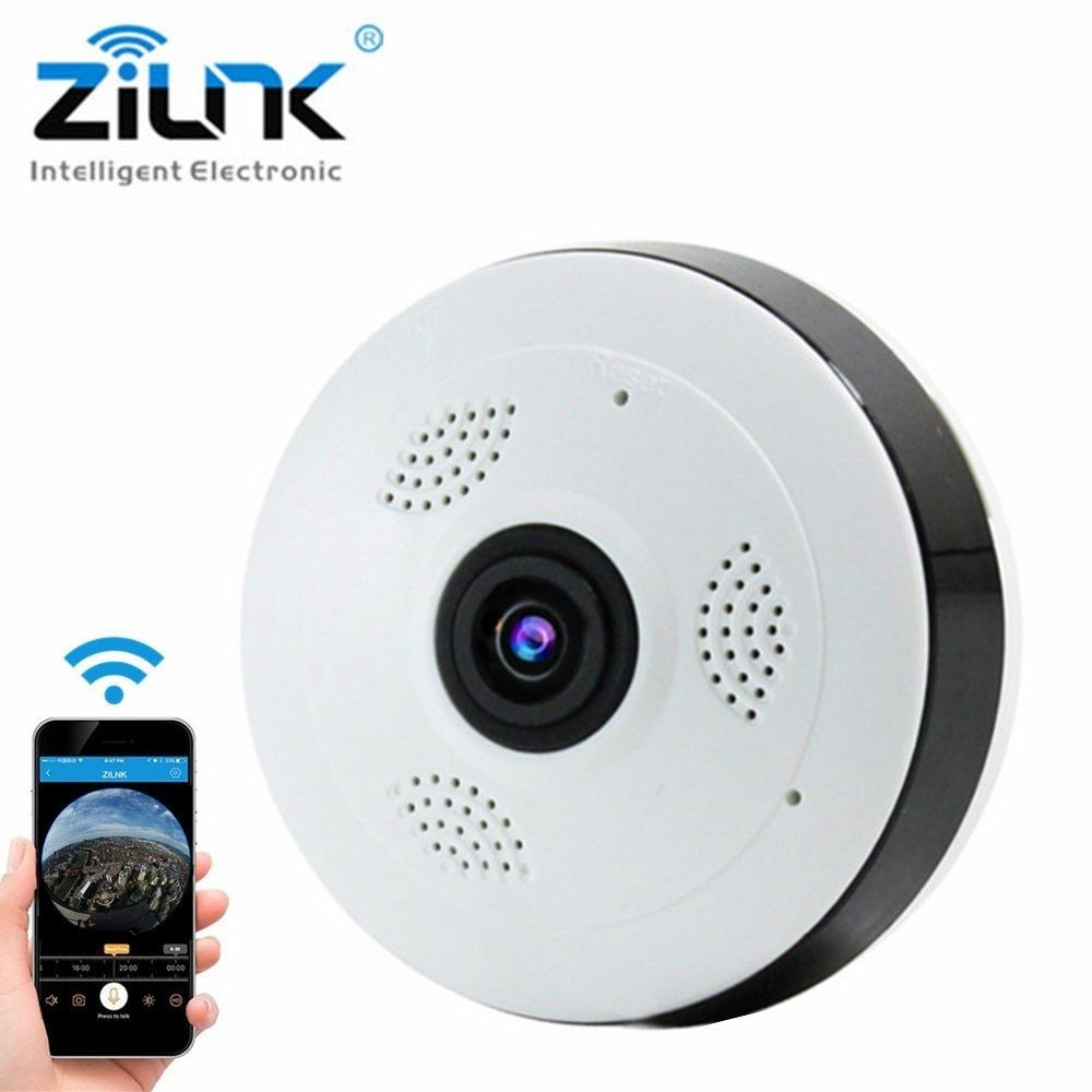 IP Camera HD 1080P Wifi Camera Fisheye 360 Degree Panoramic View Two Way Audio P2P Security CCTV Camera TF Card