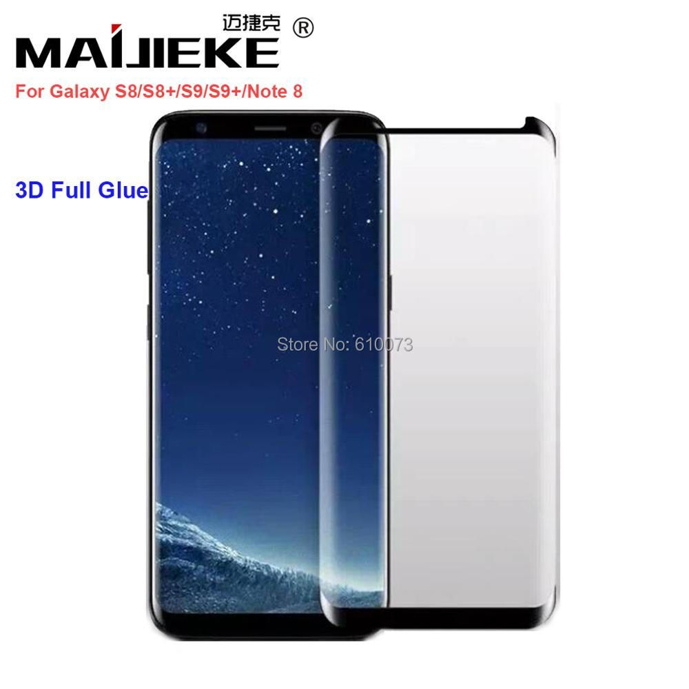New 3D Full Glue Adhensive Case Friendly Tempered Glass for Samsung Galaxy S8 S9 Plus Note 8 S7 edge Phone Screen Protector