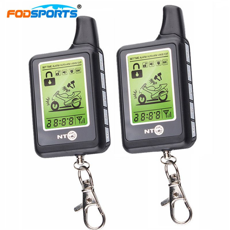 Fodsports Motorcycle Alarm Reminder System Two Way LCD Anti-theft Security Theft Protection Monitoring Range 3500M Waterproof
