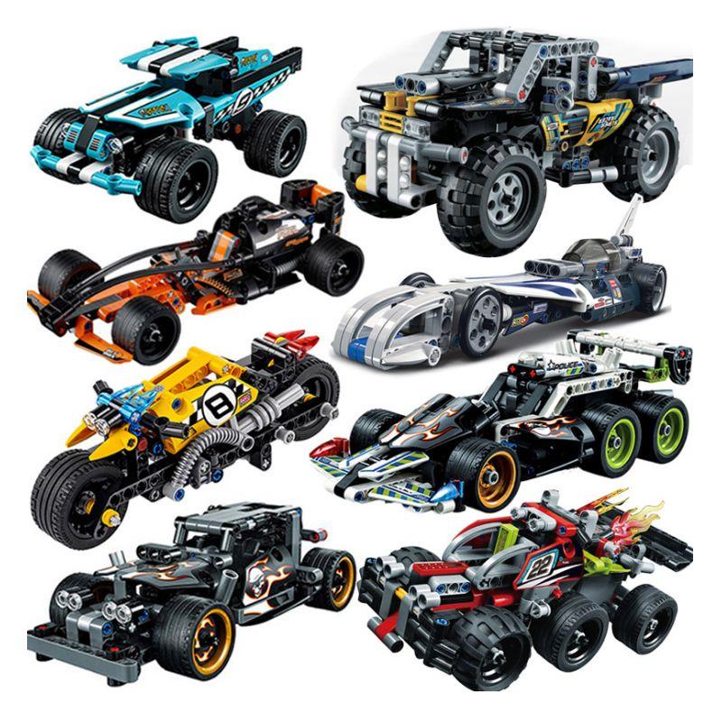 Decool Racer Pull Back Voiture Technique Tracteur Pelle Technicien Construction blocs Briques Compatible legoings Kid Jouets Pour Enfants