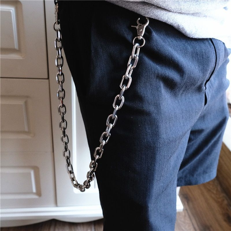 Fashion Men Jewelry Jean Wallet Chain 3 Layer Waist Punk Hook Silver Trousers Pant Belt Chain Jewelry Keychain Pant Chain DR179