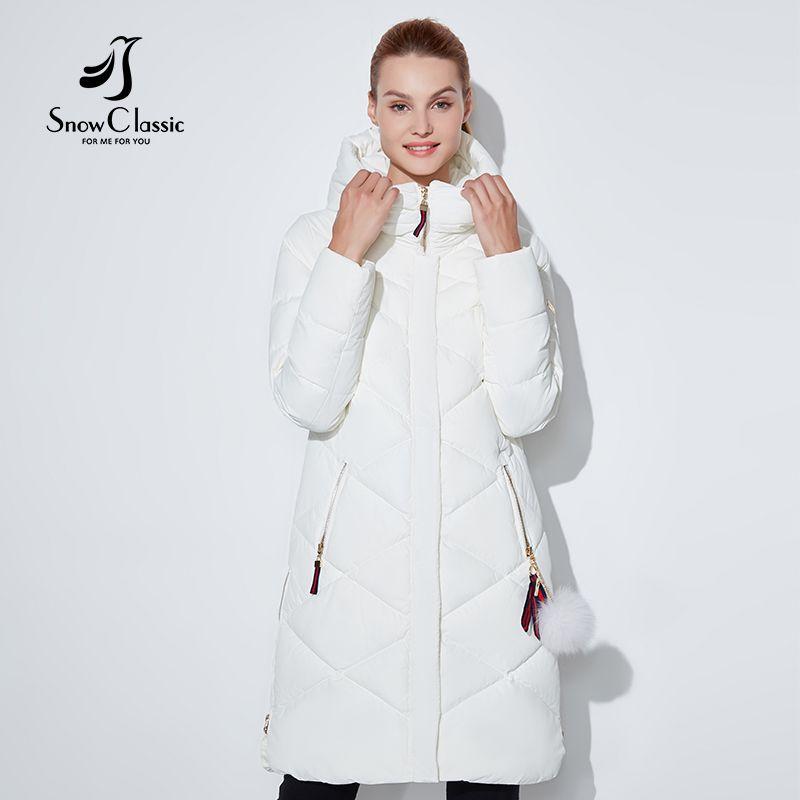 SnowClassic frauen winter jacke Dünne kurze parka Kapuze mäntel luxus oberbekleidung Argyle jacke weibliche Adrette winter mäntel 2018