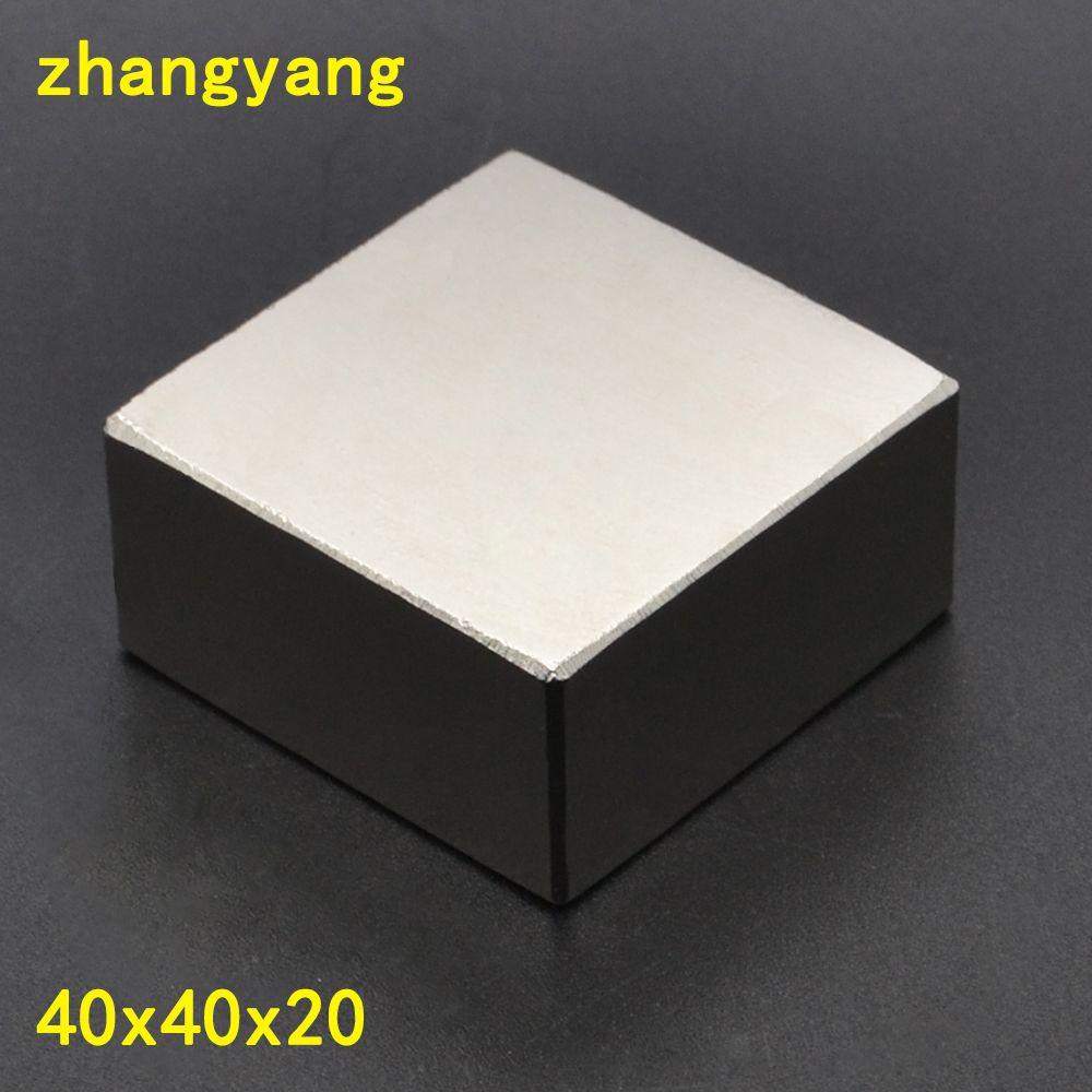 N52 1PCS block 40x40x20mm Super Powerful Strong Rare Earth Block NdFeB Magnet Neodymium Magnets 40x40x20 40*40*20