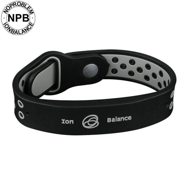 Noproblem bio santé avantages l'équilibre ionique puissance thérapie silicone sport cou tourmaline germanium bracelet bracelet