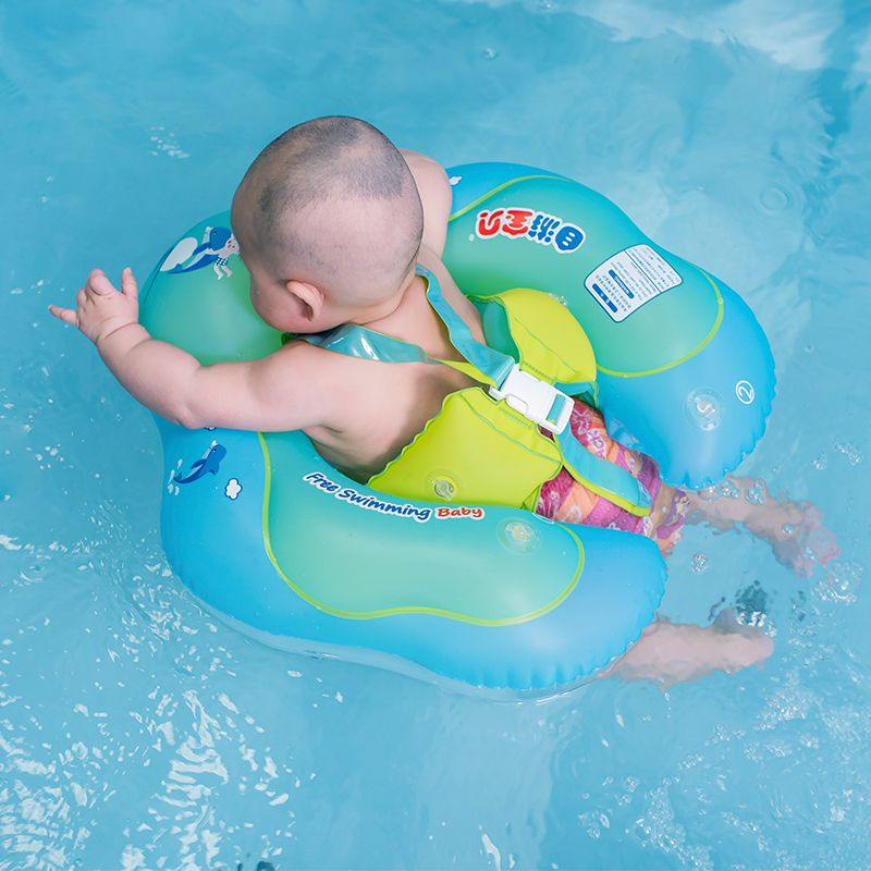 Baby <font><b>Swimming</b></font> Ring Inflatable Infant Armpit Floating Kids Swim Pool Accessories Circle Bathing Inflatable Double Raft Rings Toy