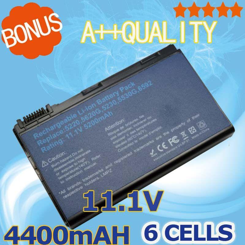 4400mAH Battery For Acer Extensa 5210 5220 5235 5420G 5620G 5620Z 5630 5630G 5635 5635G 5635Z 7220 7620 7620G GRAPE32 GRAPE34