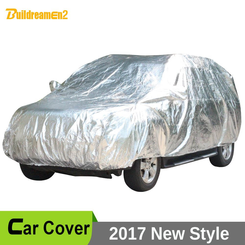 Buildreamen2 Waterproof Car Covers Thicken Cotton Indoor Outdoor Anti UV Sun Dust Rain Snow Hail Protective Car Cover Universal