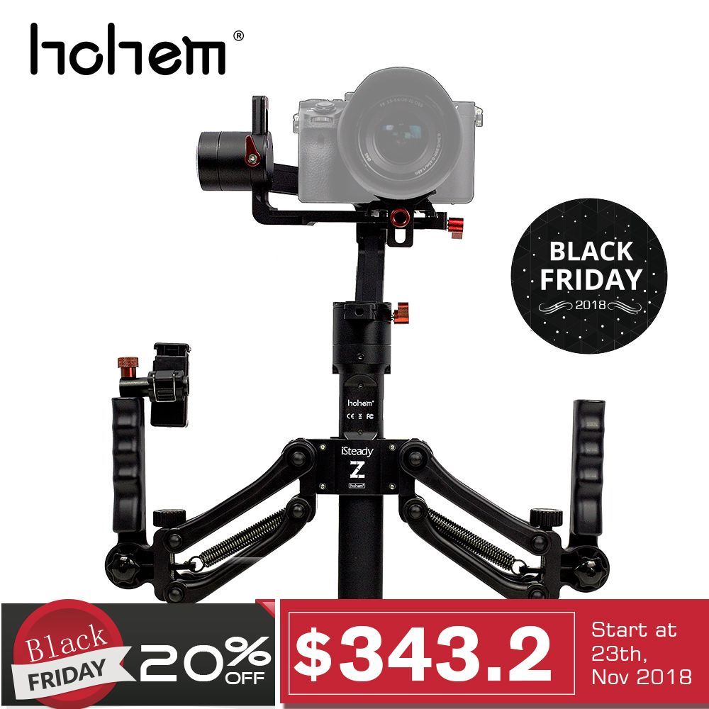Hohem iSteady Gear 3-Axis Handheld Gimbal Stabilizer with spring dual handle for DSLR Mirroless Camera for SonyA7 as for Gift