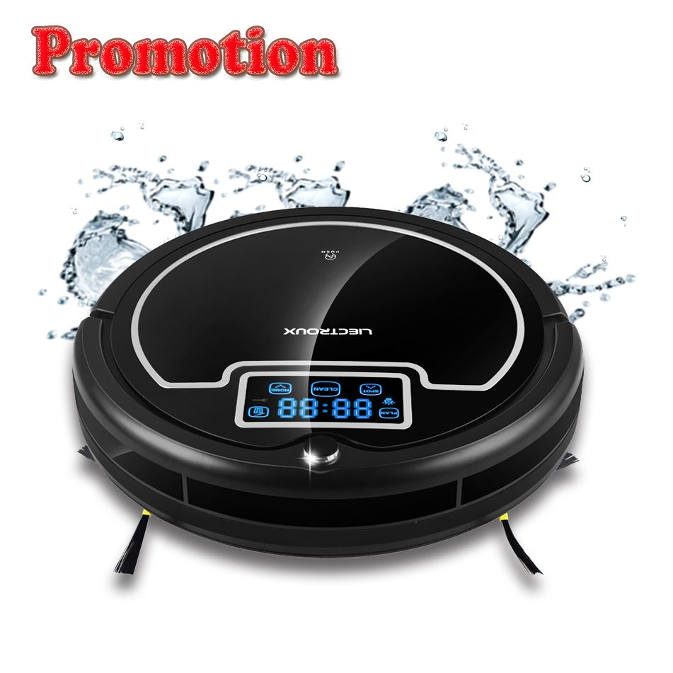 (Free Shipping to All, Fast Delivery) Robot Vacuum Cleaner with Water Tank,Wet&Dry,TouchScreen,Big Mop,Schedule,Virtual Blocker