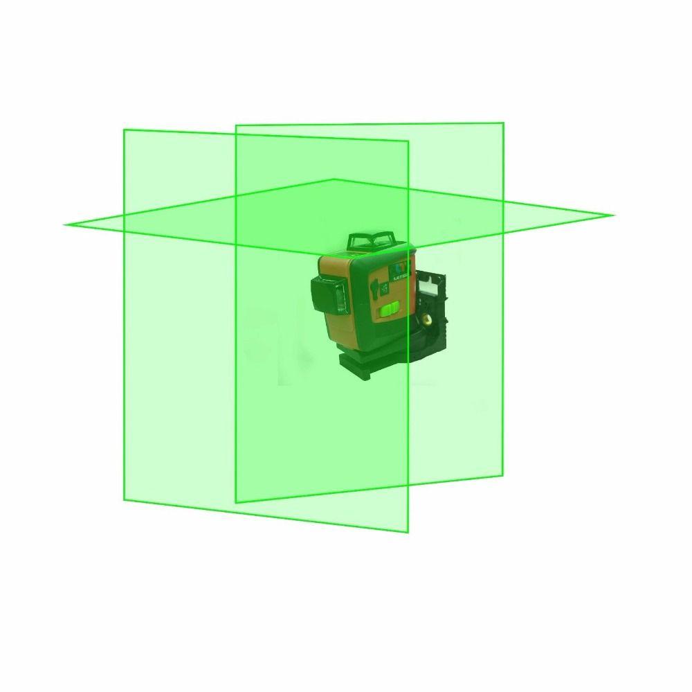 Nuevo leter 3D verde nivel láser autonivelante 360 360 horizontal y vertical Cruz