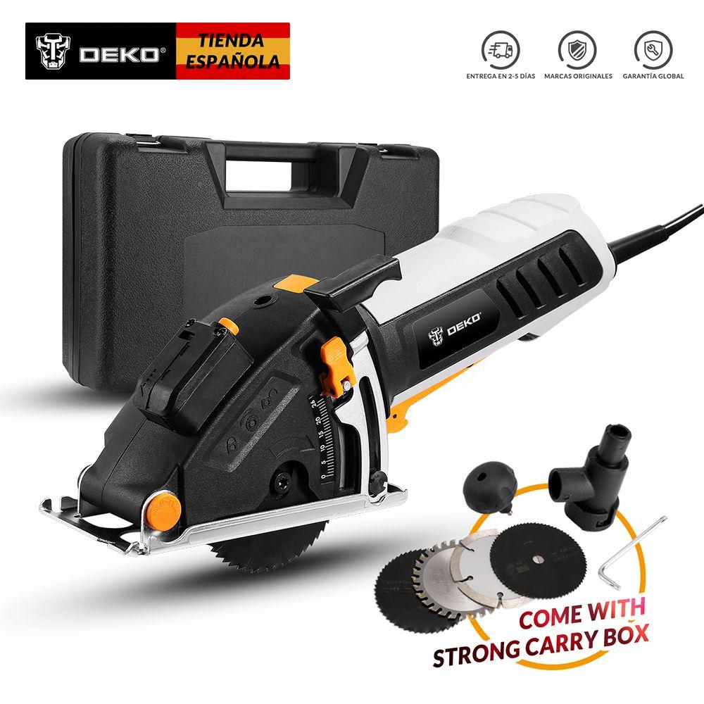 DEKO Original Mini Saw Power Tools mit Laser, 4 Klingen, Staub passage, Allen schlüssel, hilfs griff, BMC BOX Elektrische Sa