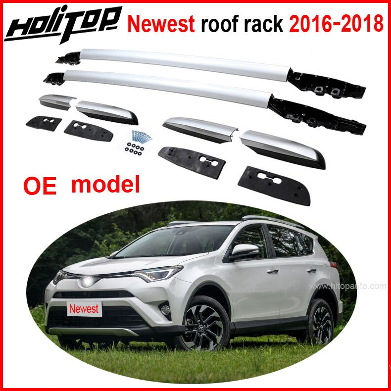 OE roof rack roof rail roof bar for Toyota RAV4 2016 2017 2018,aviation aluminum alloy,old seller 5years, quality guarantee