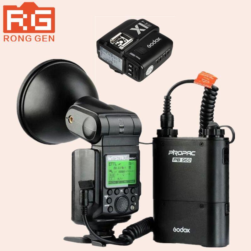 Godox AD360 II Witstro AD360II-N TTL On/Off-Camera Flash Speedlite for Nikon DSLR Cameras PB960 Battery Pack+X1 Wireless Trigger