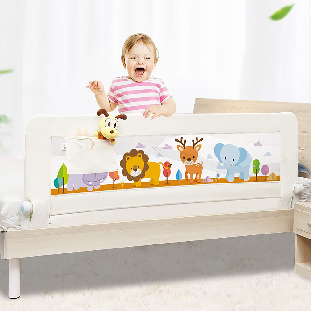 Bebé barandilla de la cama de bebé Seguridad barandilla con bolsillo bebé playpen Kids Seguridad uso general cama de bebé barandilla valla cuna rieles