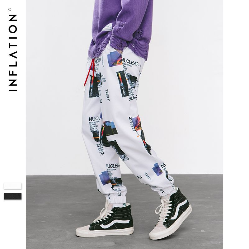 INFLATION Harem Pants Graphic Print Pencil Pants Elastic Waist Track Pants Trousers Mens Womens Fashion Joggers Sweatpants 8844W