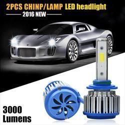 6000 Lumens 60 W COB LED 12 V 24 V H1 H3 H4 H7 H11 9005 9006 880 Phare De Voiture Kit Avant Ampoule Brouillard Ampoule Projecteur Remplacer