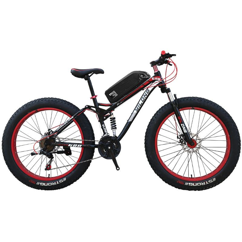 26 inch Full suspension mountain E-bike fat Ebike Powerful Electric bike MTB 48V1500W ebike 27 speed off-road 4.0 fat tires