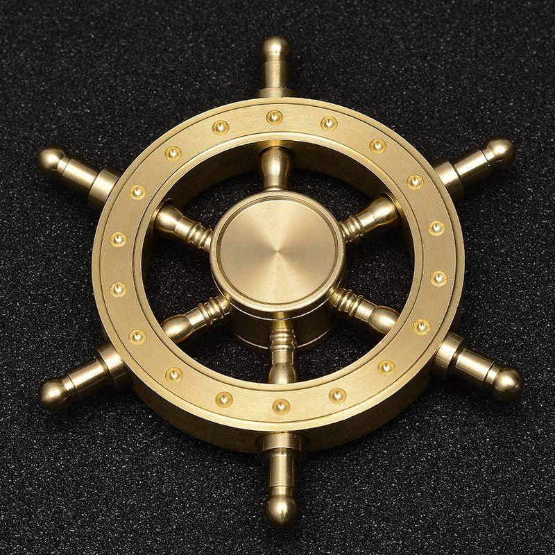 5 ~ 8 minutos mejor spinner fidget Reciente cobre spiner Suave rueda de mano de Metal spinner # T31
